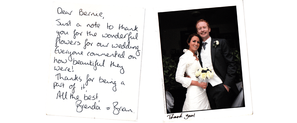 Wedding Flowers Galway Testimonial