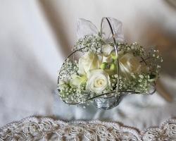 Basket of Cream Flowers - FG25