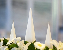 Altar Arrangment with Pyramid Candles - C83