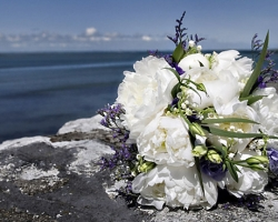 White Bridal Bouquet - B13