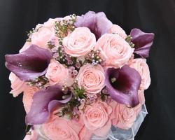 Purple & Pink Bridal Bouquet - B15