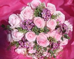 Pink & Purple Bridal Bouquet - B17