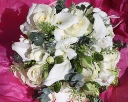 White Bridal Bouquet - B18