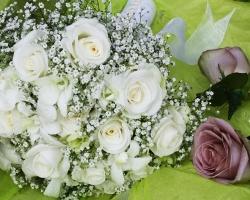 White Bridal Bouquet - B21