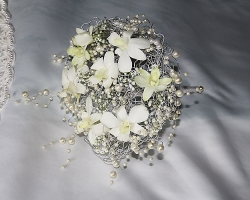 White Bridal Bouquet - B23