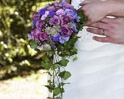 Purple Bridal Bouquet - B42