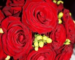 Red Wedding Bouquet - B79