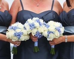 Blue & White Bridesmaids Bouquets - B94 - B