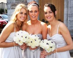 White Bridesmaids Bouquets - B86