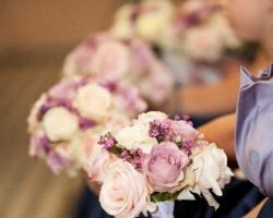 Mauve & Cream Bridesmaids Bouquets - C83