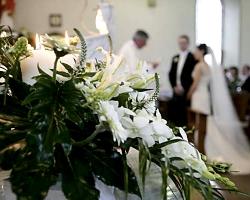 White Church Wedding Flowers - C36