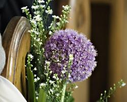 Purple Church Wedding Flowers - C37