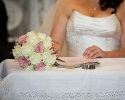 Pink & White Bridal Bouquet - B61