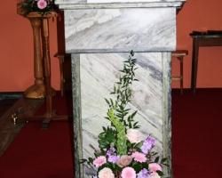 Pink Pulpit Wedding Flowers - C25