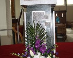 White & Purple Pulpit Flowers - C92