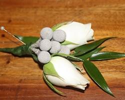 White Buttonholes - BH29