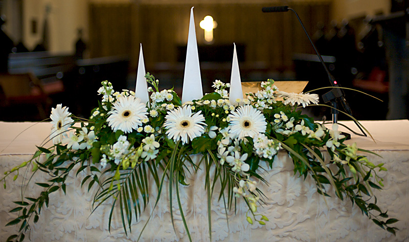 Church and Ceremony Flowers - Wedding Flowers Galway