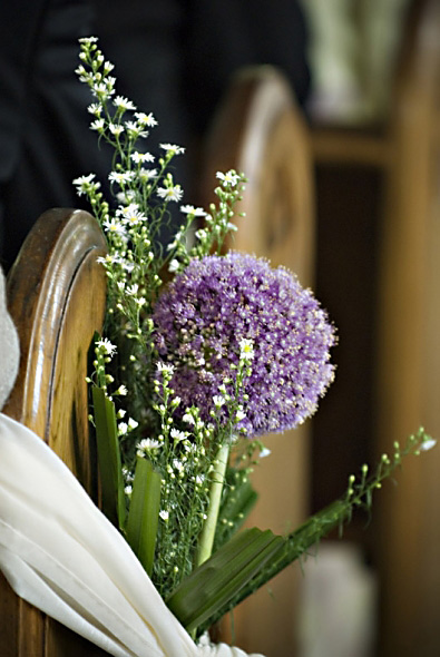 Purple Church Wedding Flowers C37
