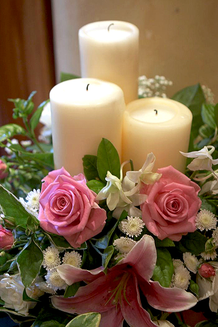 Church and ceremony flowers wedding flowers galway pink altar flowers c35 mightylinksfo