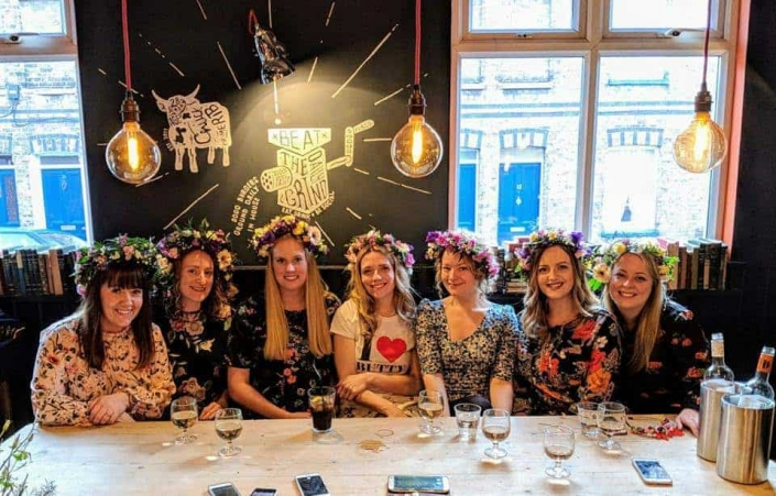 Blossom & Bramble Flower Crown Hen Party Workshop (H11)
