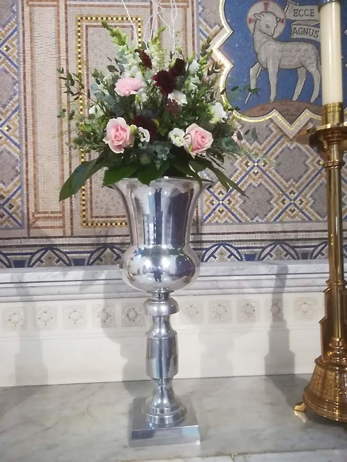 Silver Tall Vases (D307)
