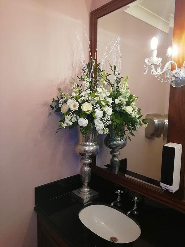 Silver Vase with Arrangement (D307)
